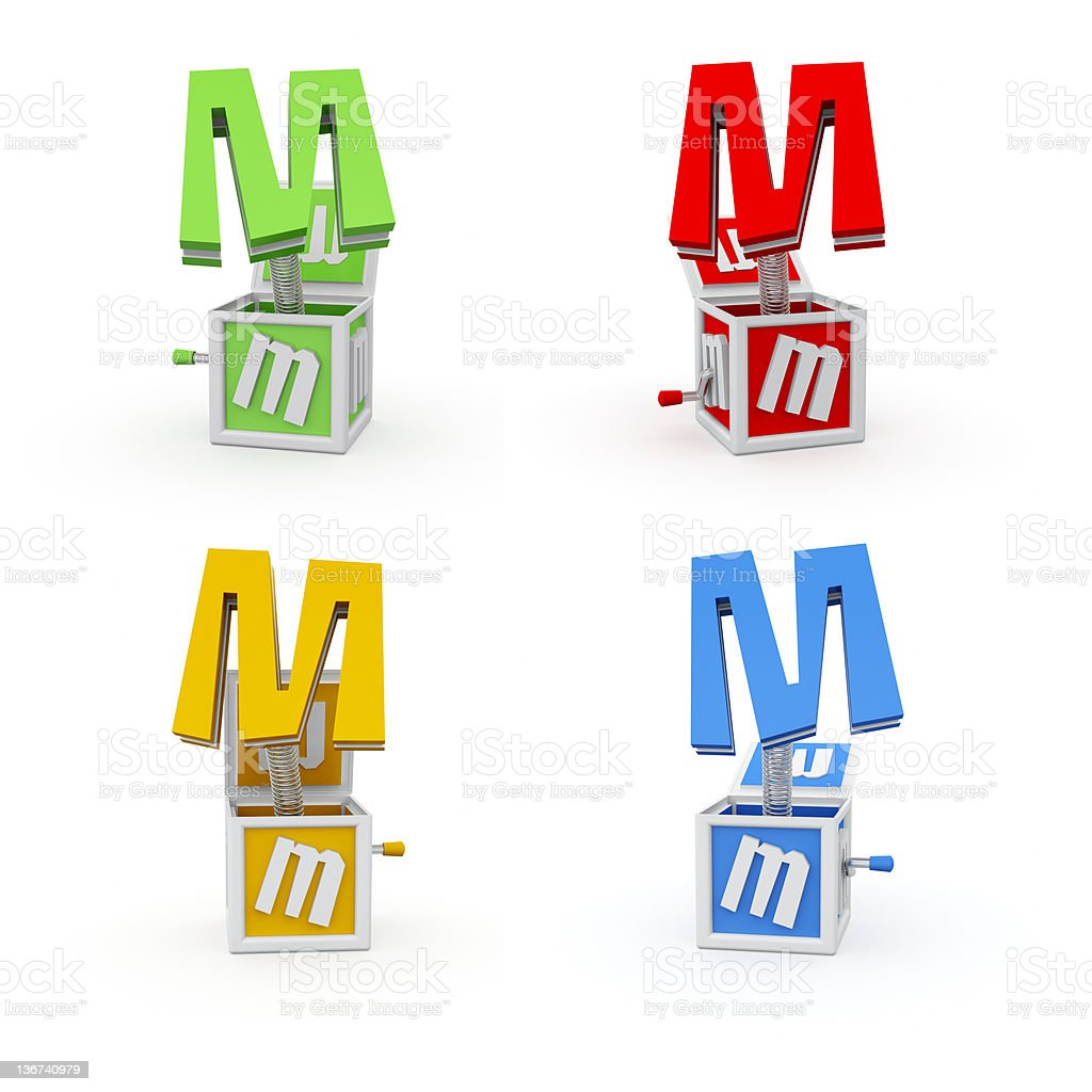 Toy Font Letter M royalty-free stock photo