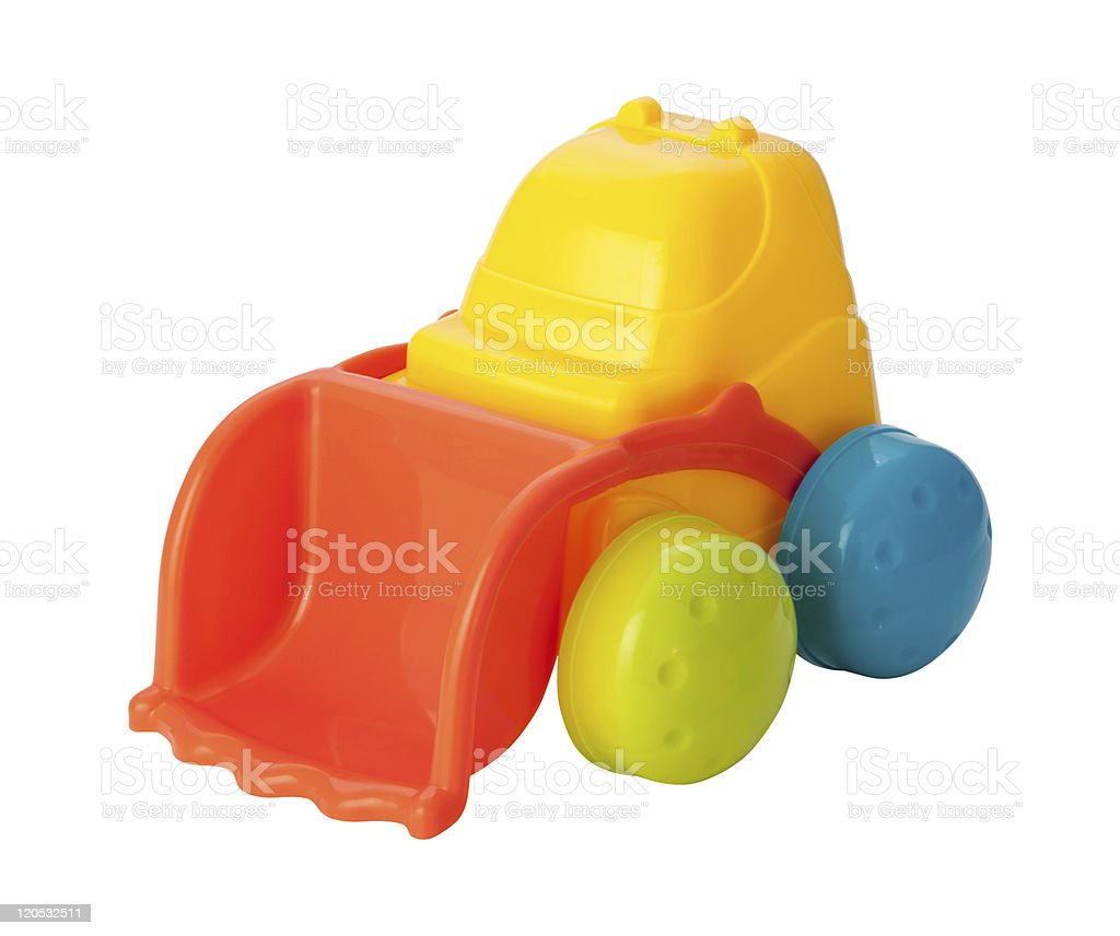 Toy Front Loader (clipping path) royalty-free stock photo