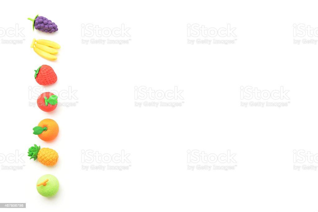 Toy fruits icon stock photo