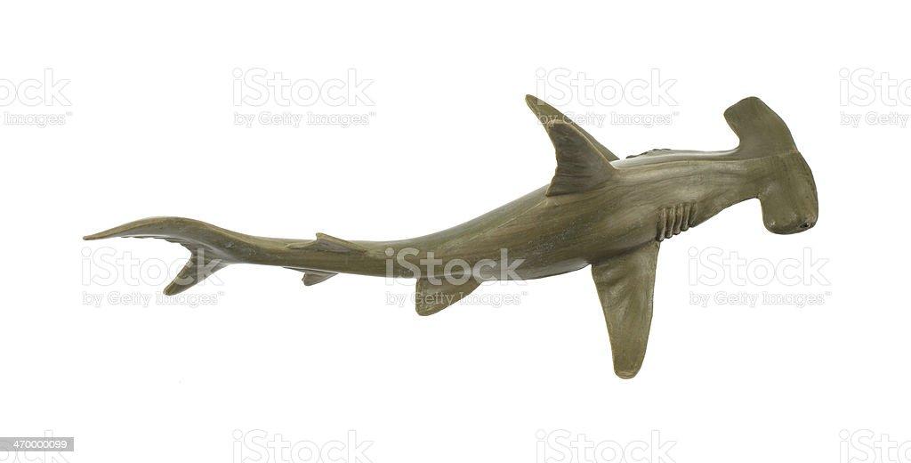 Toy hammerhead shark stock photo