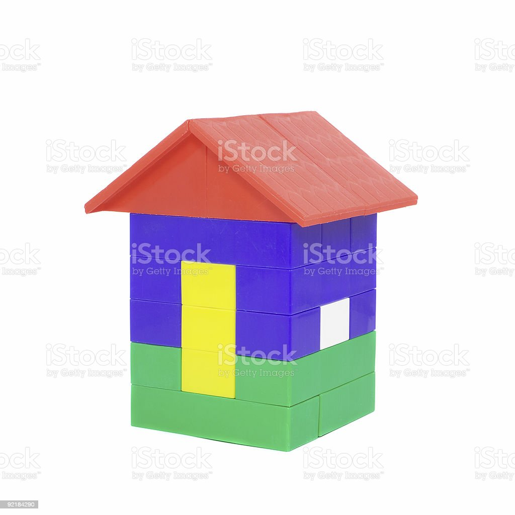 toy house 1 royalty-free stock photo
