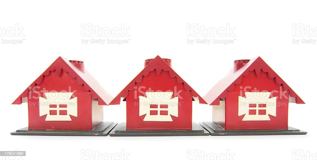 Toy houses. royalty-free stock photo