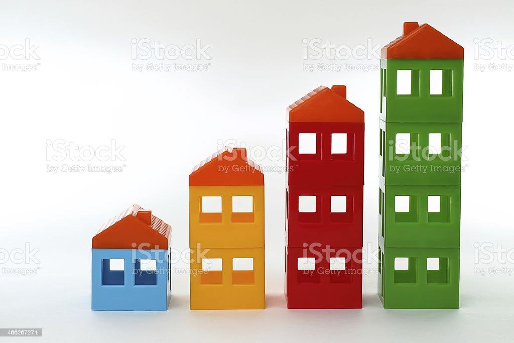 Spielzeug-Häusern – Foto
