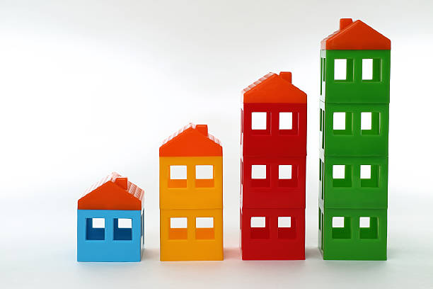 Toy Houses stock photo
