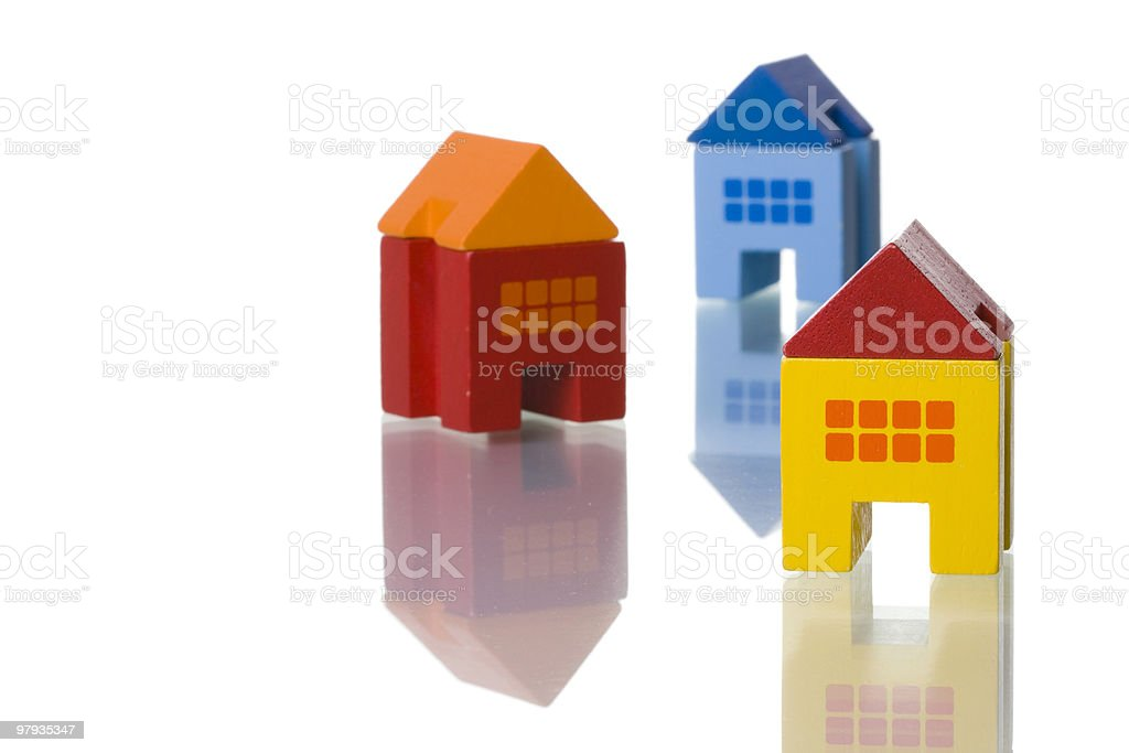 Toy houses royalty-free stock photo