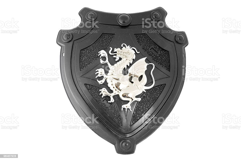 Toy - knightly  shield royalty-free stock photo