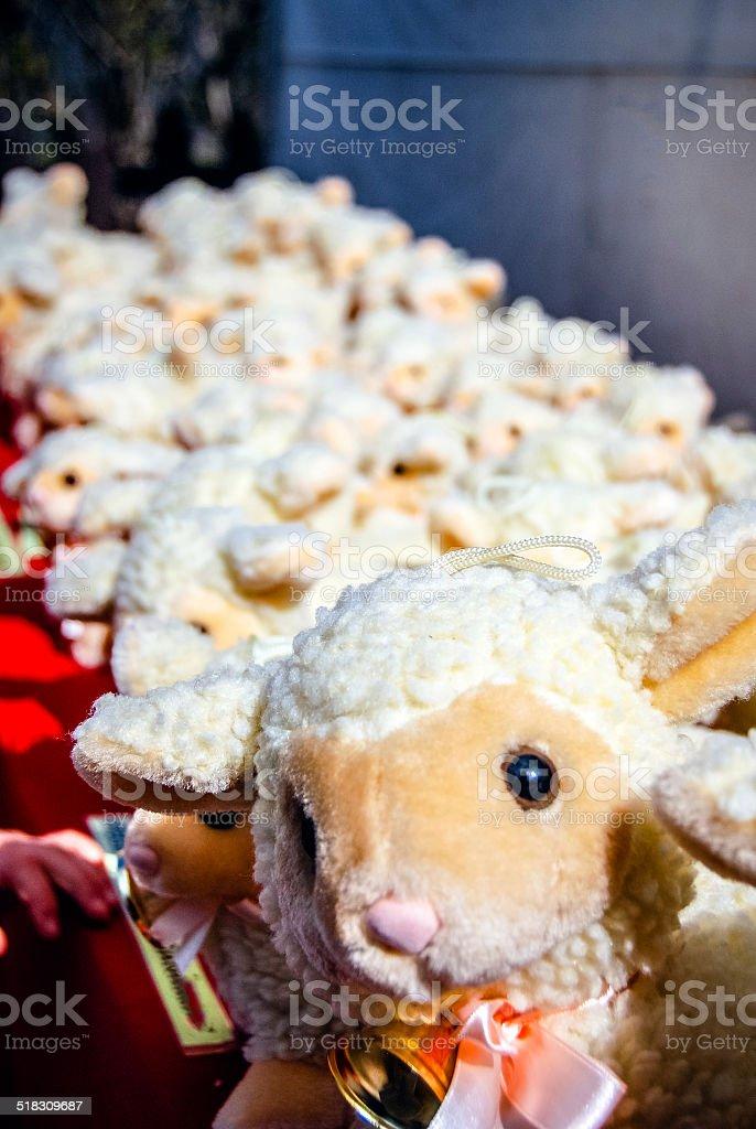 Toy Lamb stock photo
