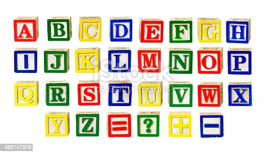 Toy letters alphabet isolated on white