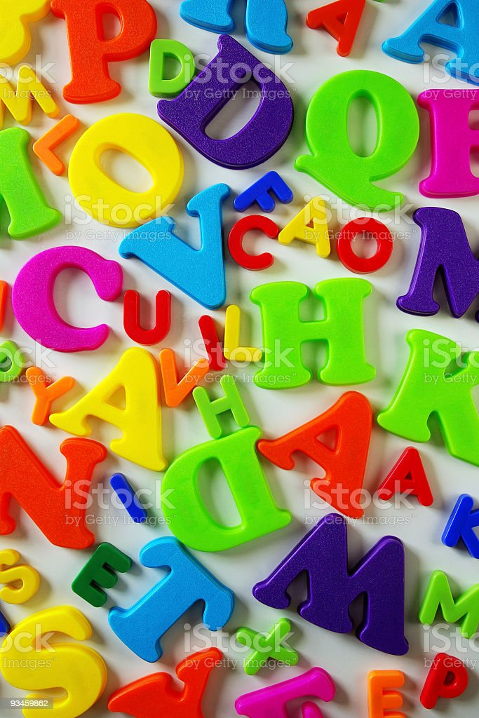 Toy Letters royalty-free stock photo