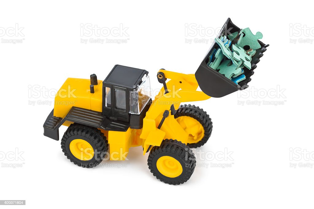 Toy loader and puzzle foto de stock royalty-free