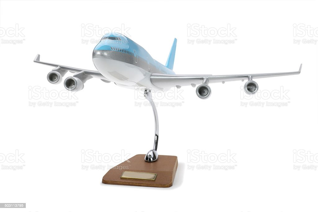 Toy model airplane stock photo