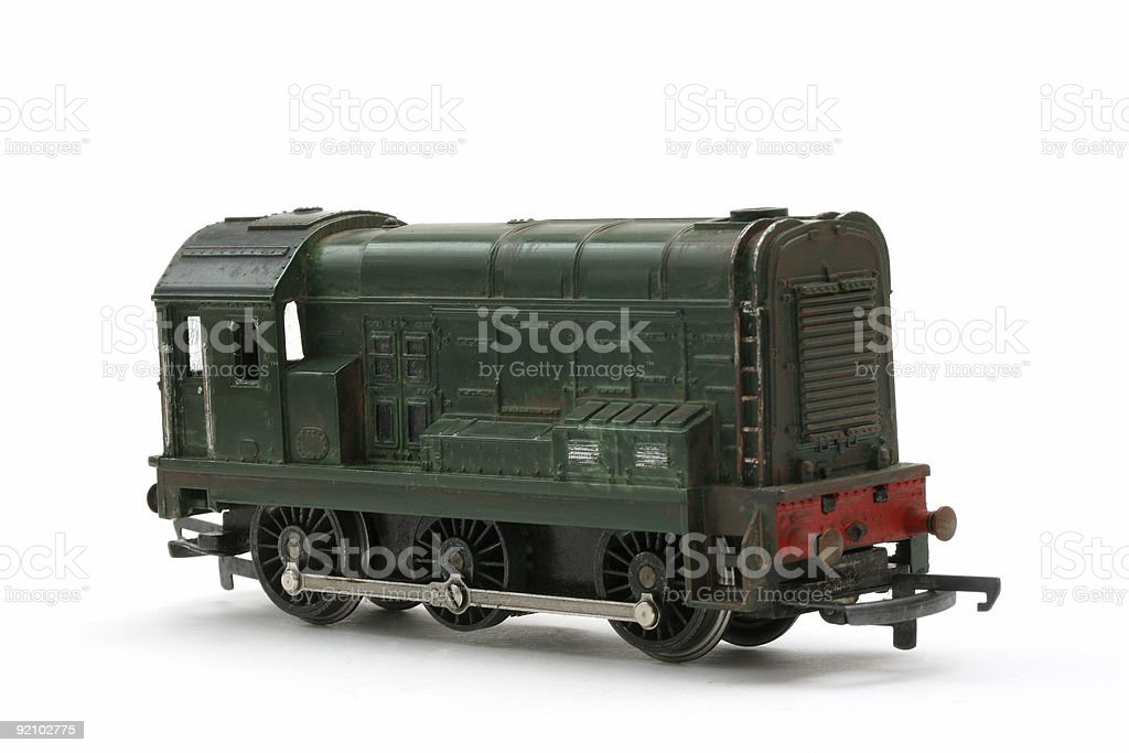 Toy model Diesel Shunter engine royalty-free stock photo