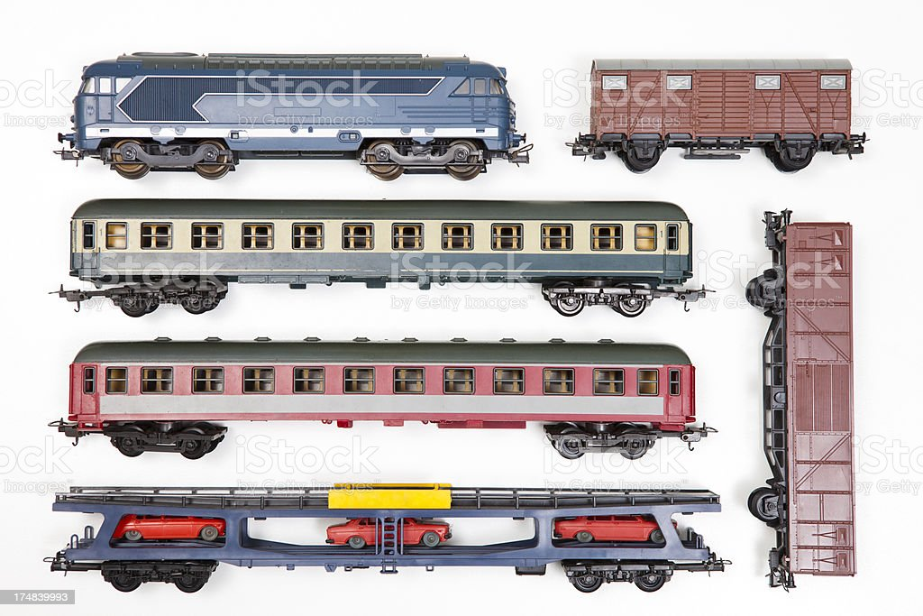 toy model train set stock photo