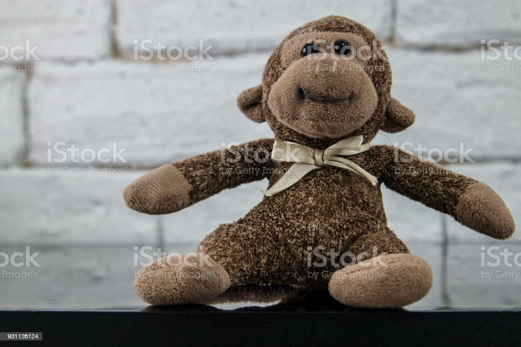 Maymun sahte kadar rustik ile oyuncak ya da loft tarzı iç. - Royalty-free Azerbaycan Stok görsel
