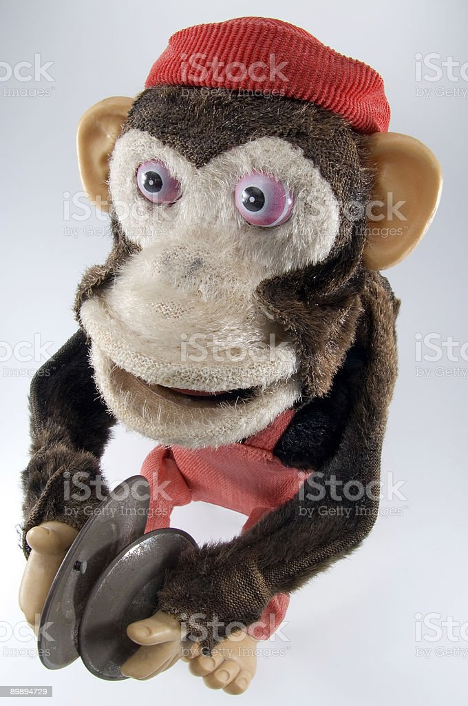 toy monkey with cymbals royalty-free stock photo