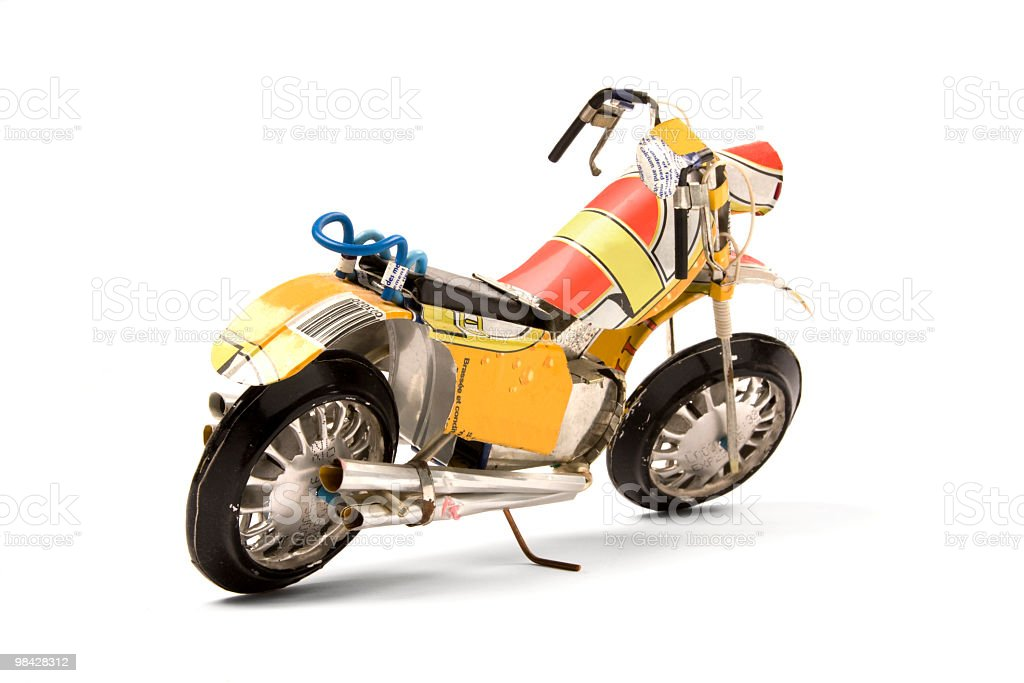 Toy motorcycle royalty-free stock photo