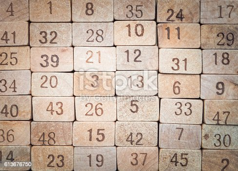 istock Toy number blocks background 613676750