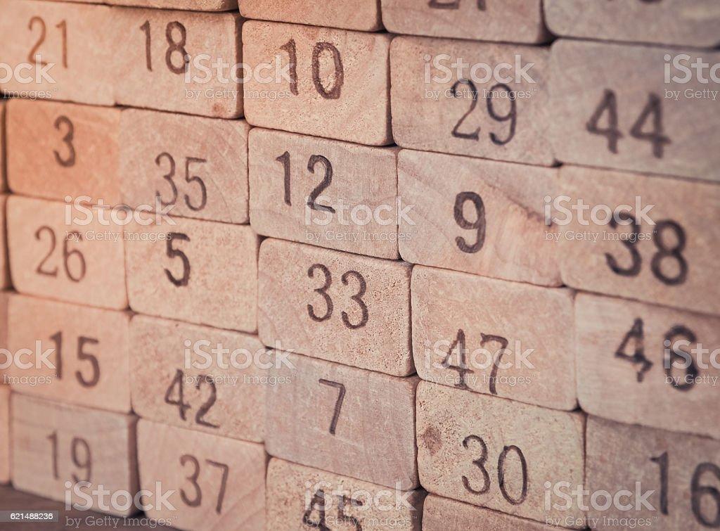 Toy number blocks background photo libre de droits