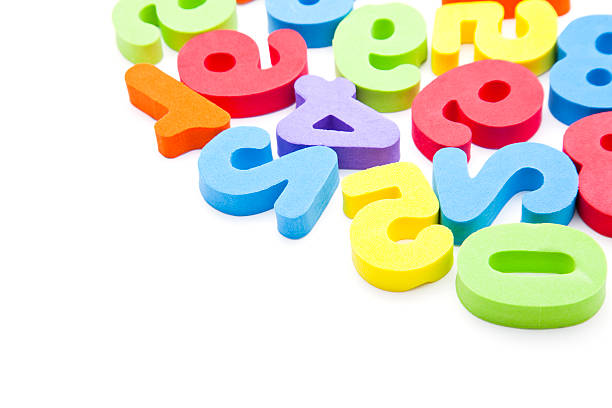 toy numbers background stock photo