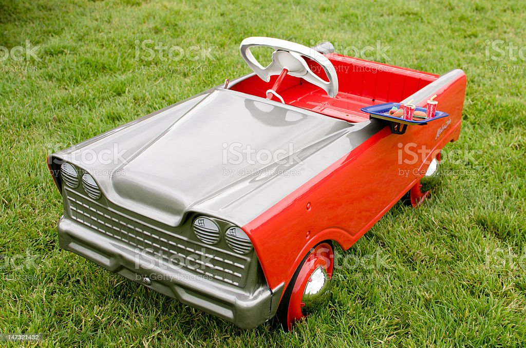 Toy Pedal Car stock photo