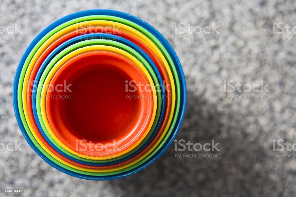 Toy plastic cups royalty-free stock photo