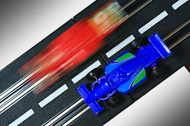 Toy Racecars stock photo
