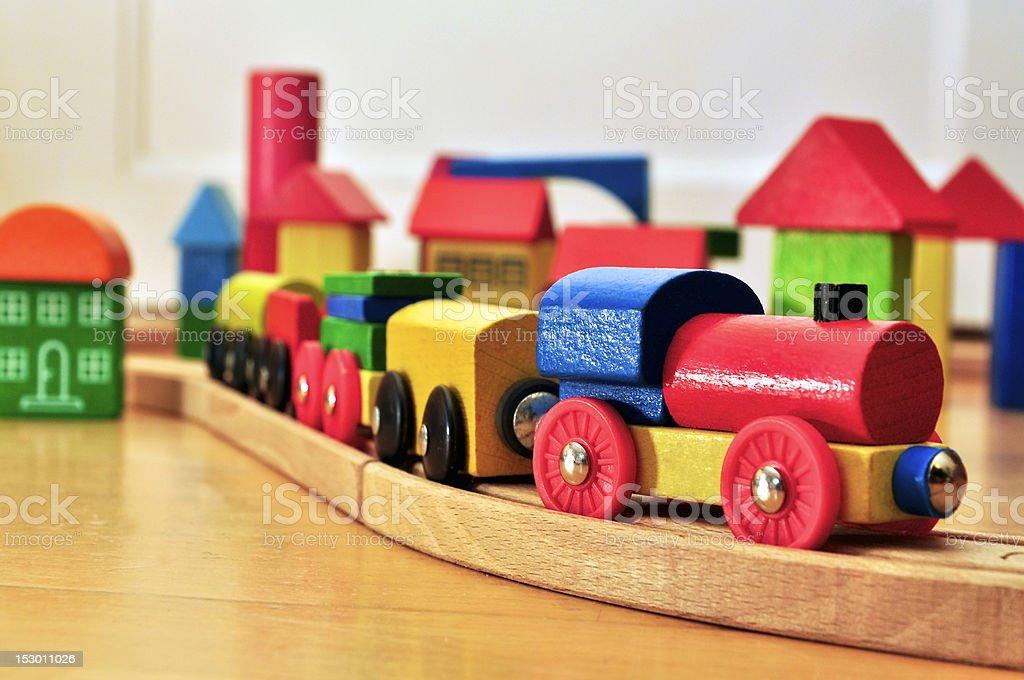 Toy Railway stock photo