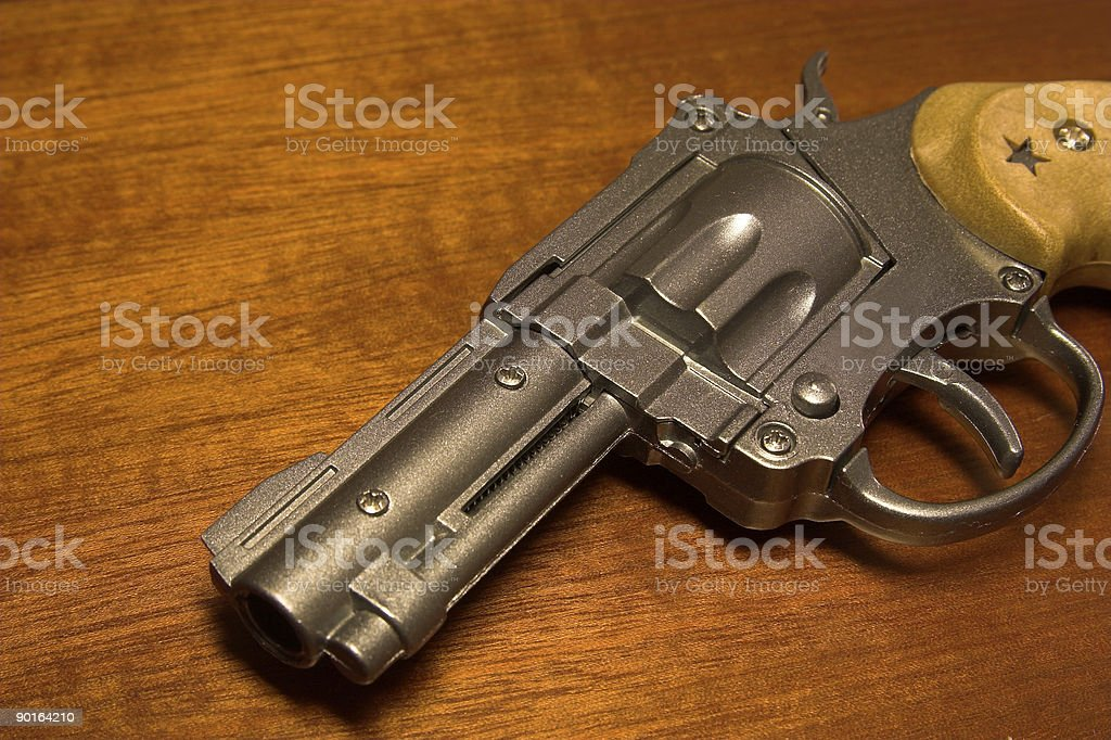 Toy revolver 2 royalty-free stock photo