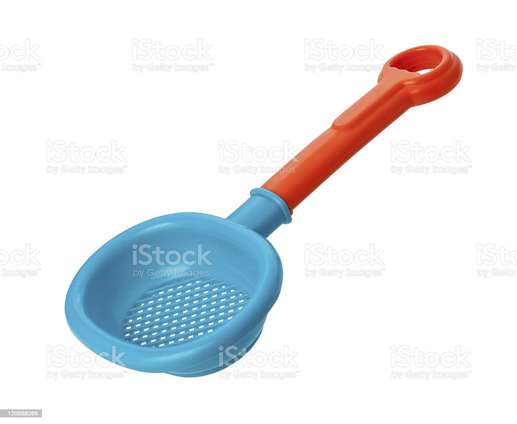 Toy Sand Sifter (clipping path) royalty-free stock photo