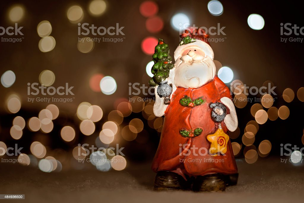 Toy Santa Claus stock photo