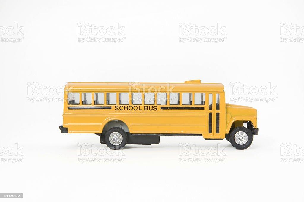 Toy School Bus royalty-free stock photo
