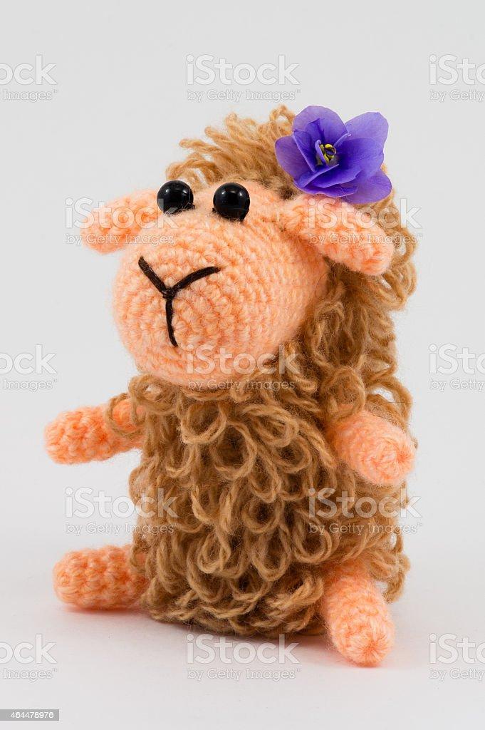 Toy sheep stock photo