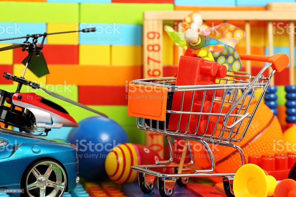toy shopping stock photo
