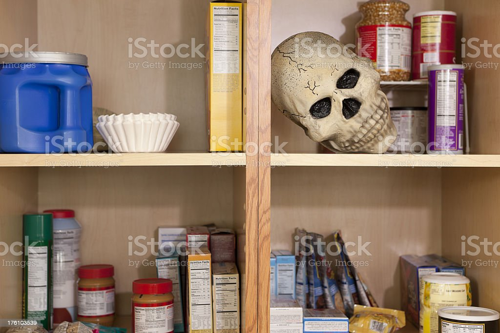 Toy Skull In Food Cupboard Stock Photo Download Image Now Istock