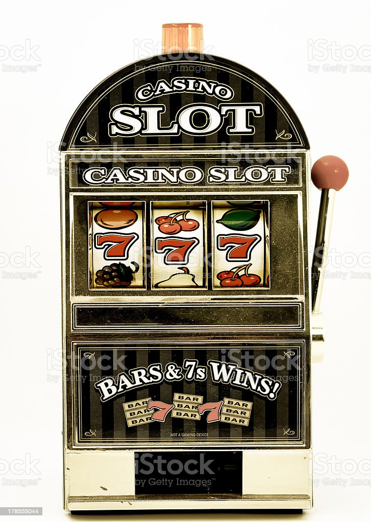 toy slot machine stock photo