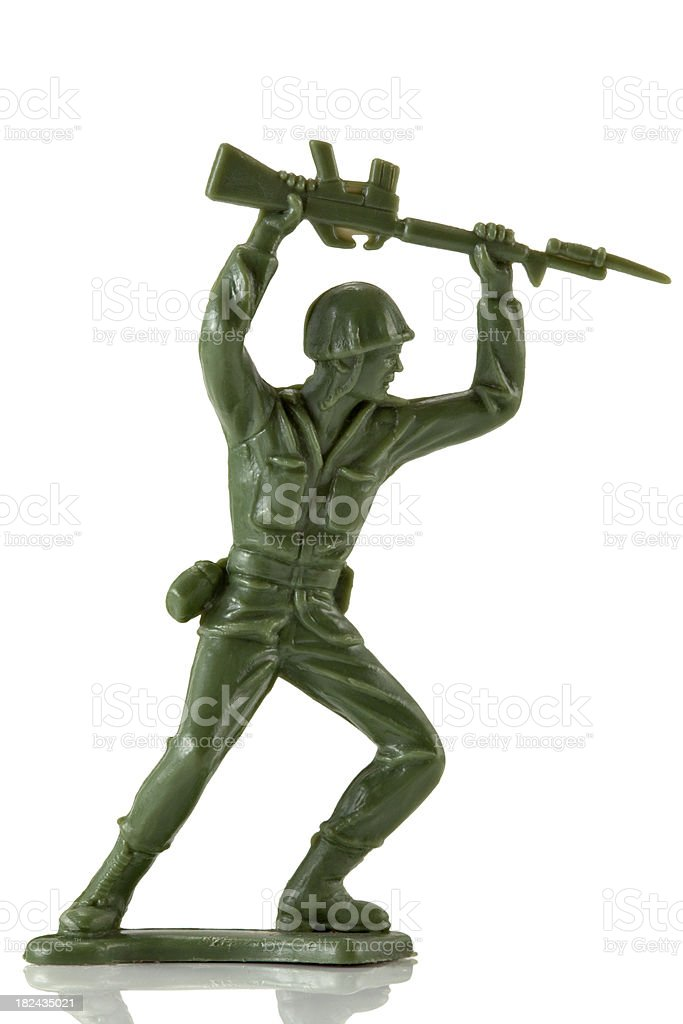 Toy soldier royalty-free stock photo