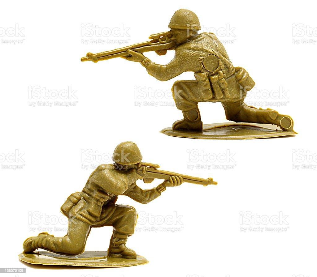 Toy Soldier shooting royalty-free stock photo