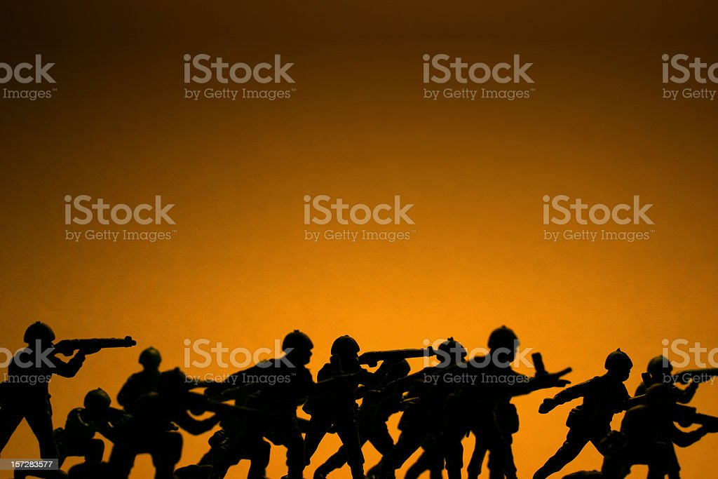 Toy Soldiers in War stock photo