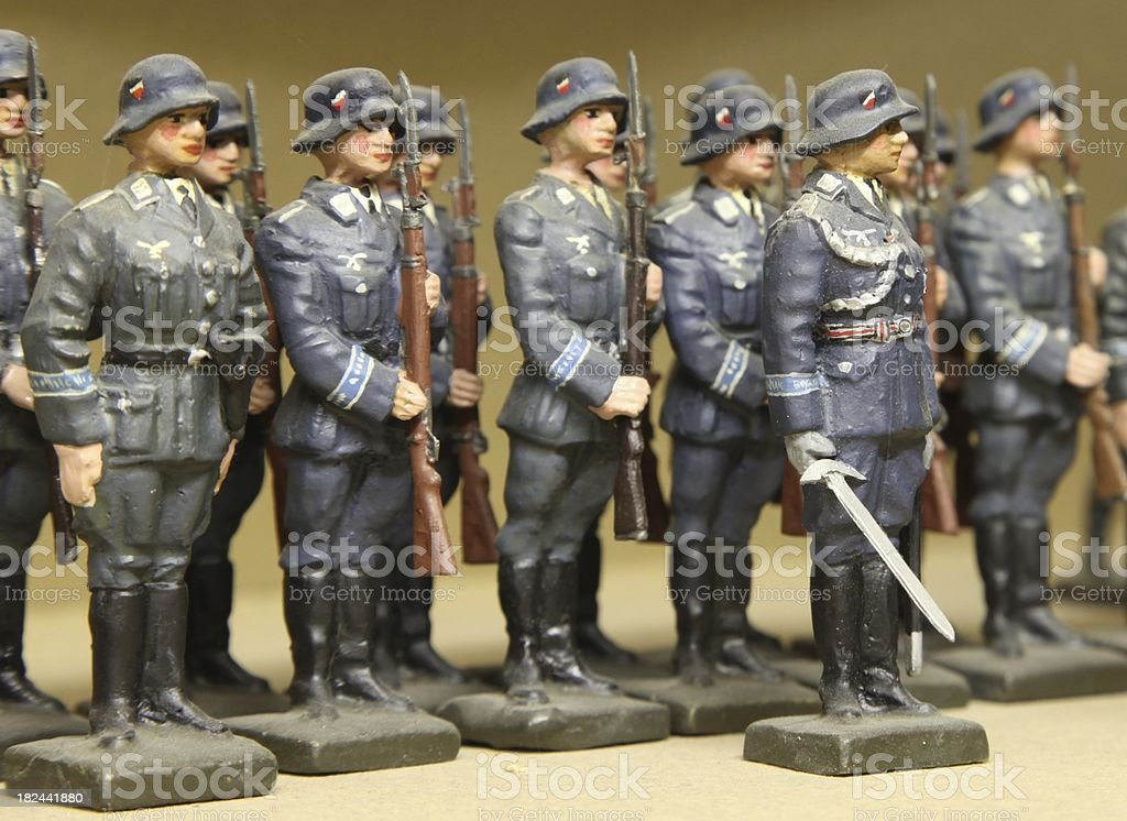 Toy soldiers on parade - germans stock photo