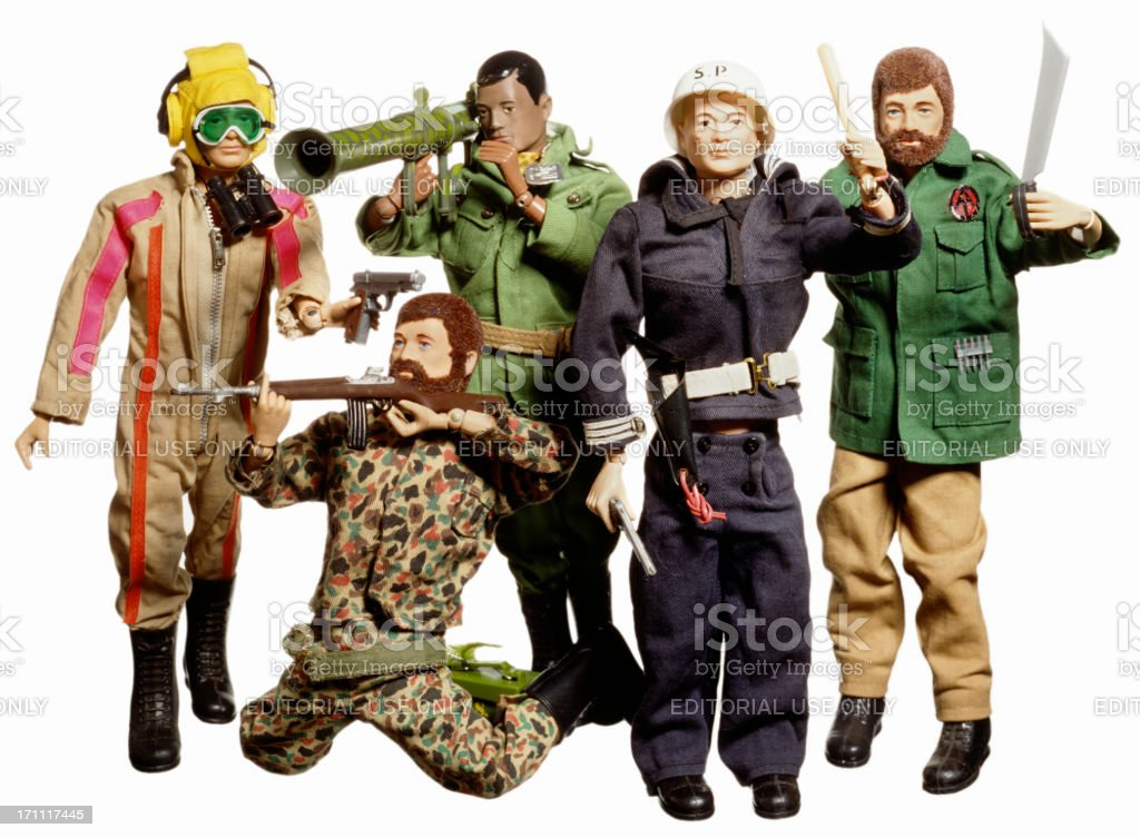 Toy Soldiers on white. royalty-free stock photo