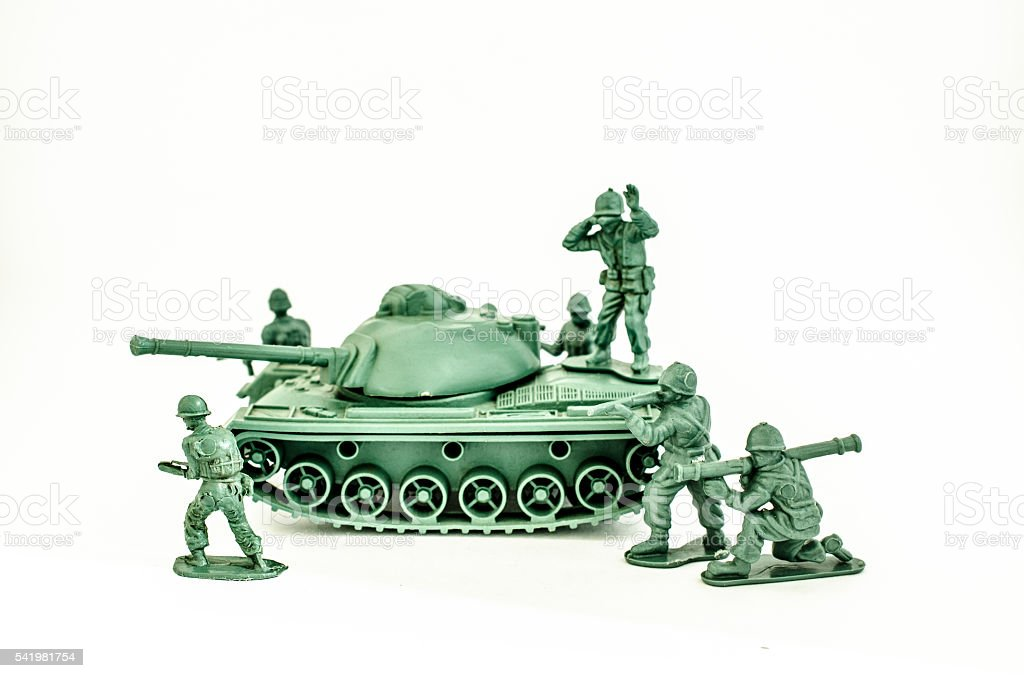 Toy soldiers thank stock photo