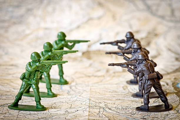 toy soldiers war concepts - battle stock photos and pictures