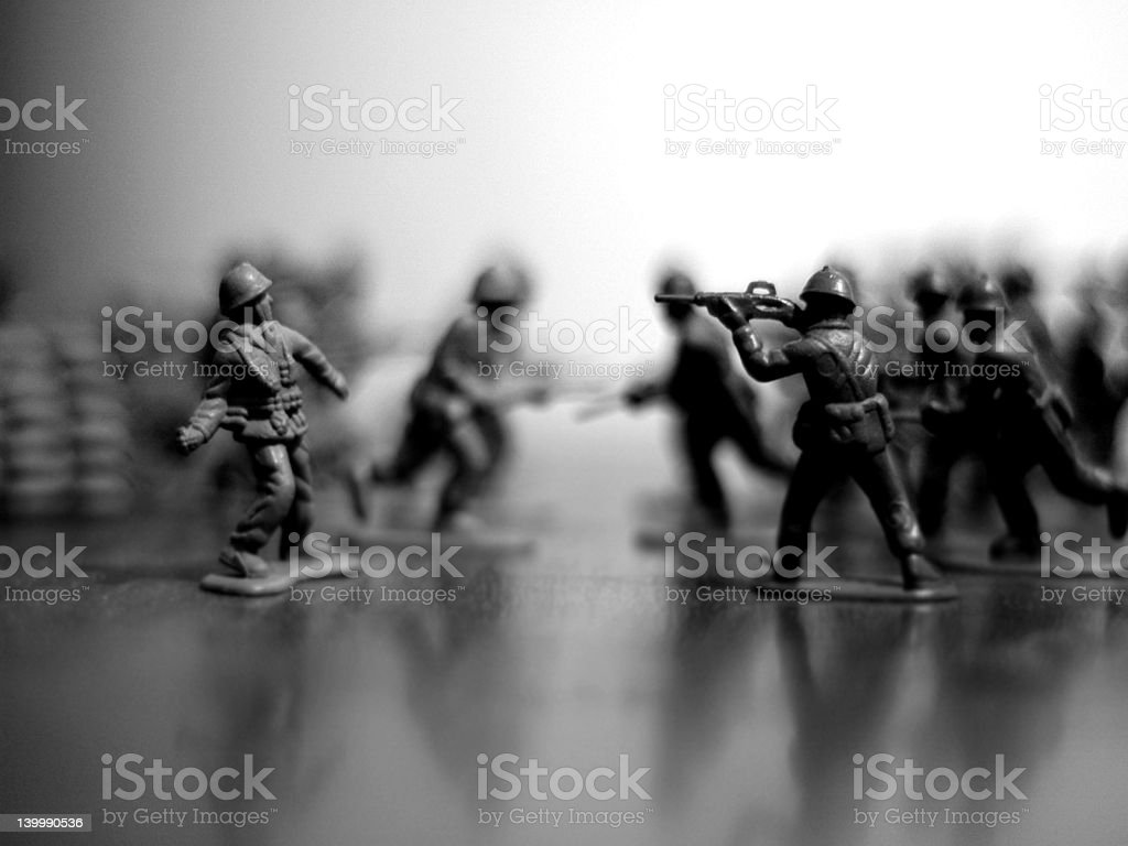 toy soldier's war stock photo