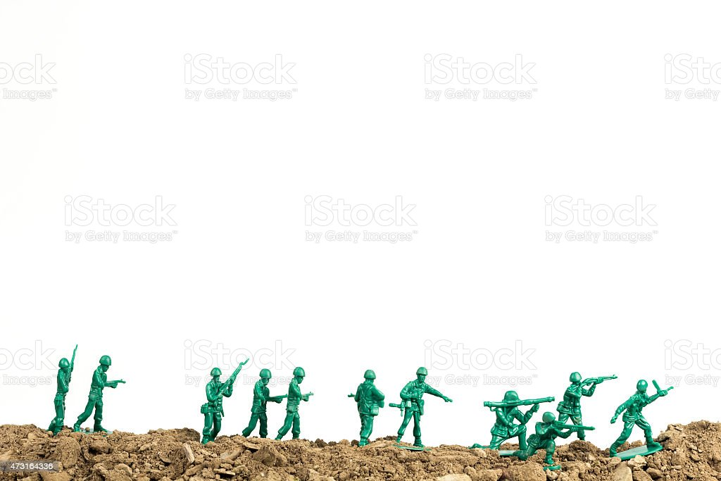 Toy Soldiers War stock photo