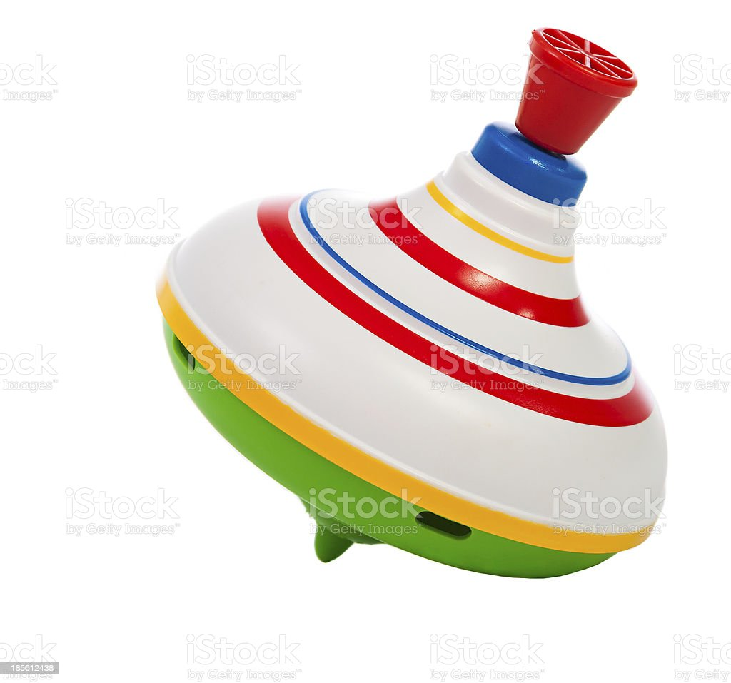 toy spinning top stock photo