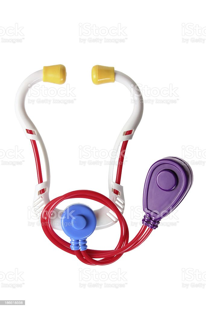 Toy Stethoscope royalty-free stock photo