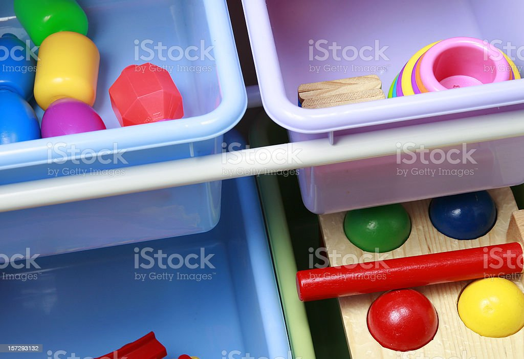 Toy Storage stock photo