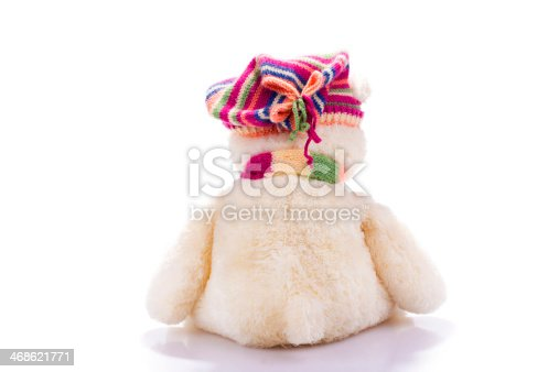 istock Toy teddy bear from back 468621771