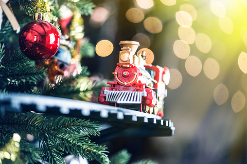 Toy Train and Christmas Tree