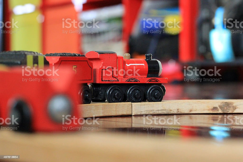 Toy trains stock photo